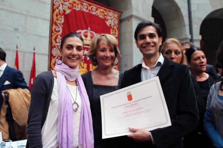 La presidenta Esperanza Aguirre junto a Federico Gastón Plée Silva