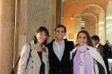 Federico Gastón Plée con sus profesoras