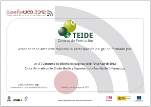 Diploma general DiseñaWeb 2012