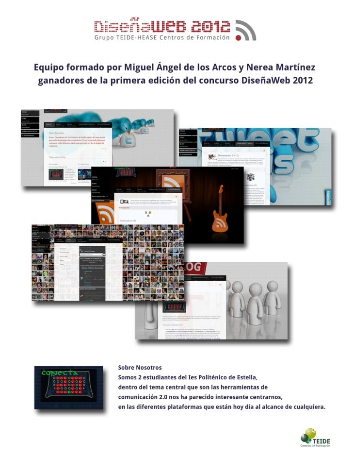 Ganadores DiseñaWeb 2012