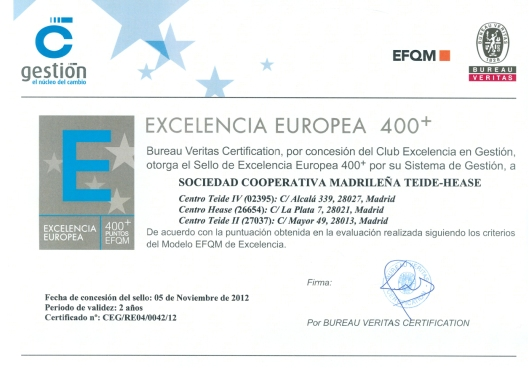 Excelencia Europea 400+