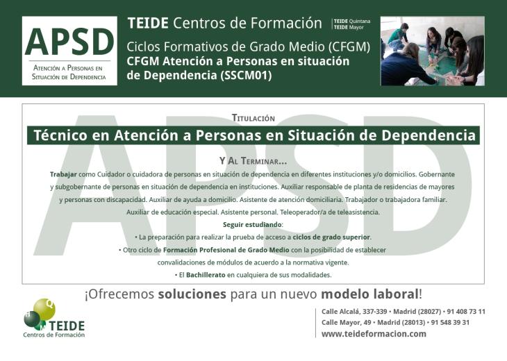 CFGM Atención a Personas en Situación de Dependencia TEIDE