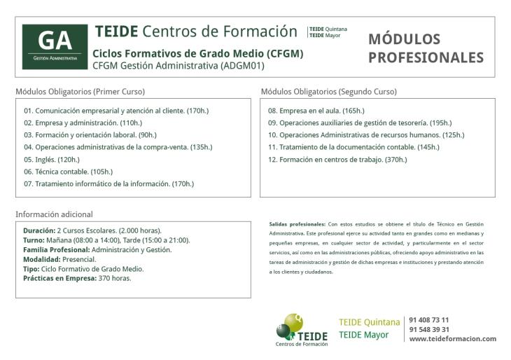 CFGM Gestión Administrativa (ADGM01)TEIDE-01