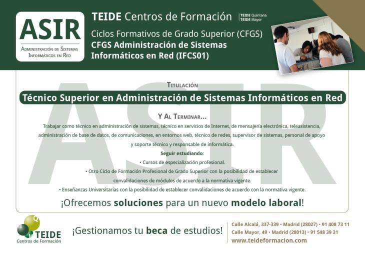 CFGS Administración de Sistemas Informáticos en Red