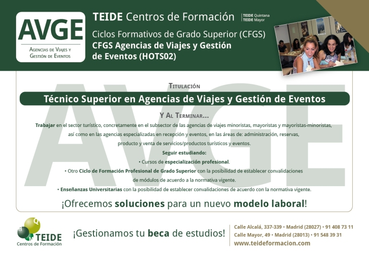 CFGS Agencias de Viajes y Gestión de Eventos