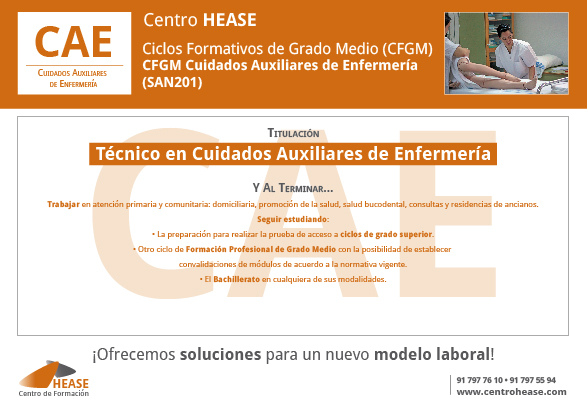 CFGM Cuidados Auxiliares de Enfermería (SAN201)HEASE-02