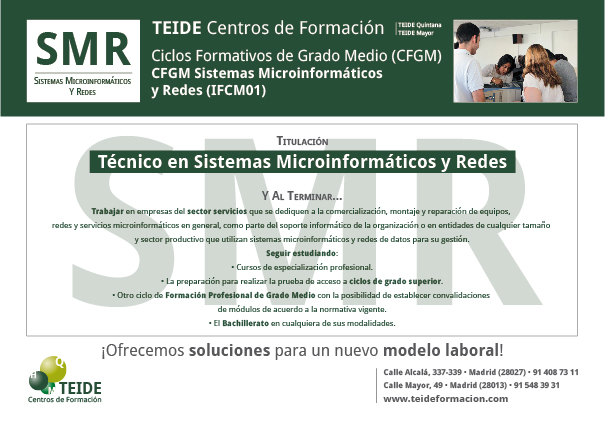 CFGM Sistemas Microinformáticos y Redes (IFCM01)TEIDEreverso-01