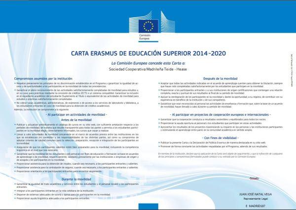 Carta Erasmus Esp