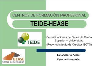 Convalidación GS-Universidad