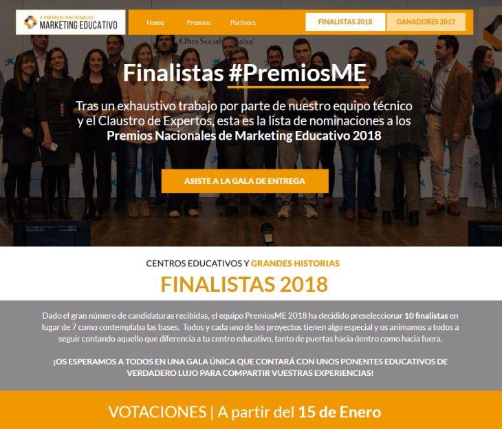 Premios Nacionales de Marketing Educativo 2018